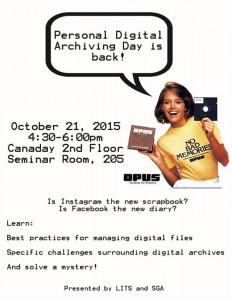 Personal Digital Archiving Day is back! Flyer