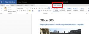 Office Online can open to desktop Word