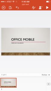 PowerPoint Online (iOS)
