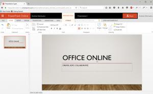 Screenshot of PowerPoint Online on Windows