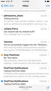 It's flagged in your device's native email app, too!