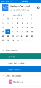 View shared calendars in the OWA