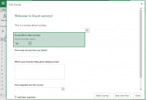 Creating an excel survey