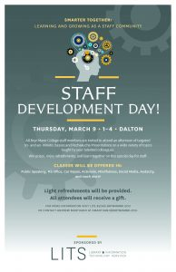 Staff development day poster