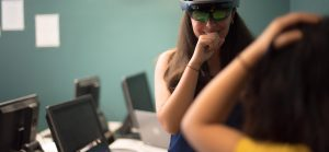 HoloLens summer interns experiment with app development.