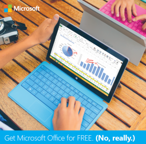 Get Microsoft Office for free by logging in at webmail.brynmawr.edu. Click Office 365 in the top left corner. Click to install Office 2016.