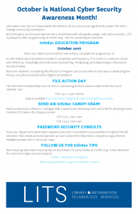 National Cyber Security Awareness Month brochure