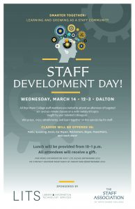 Poster for the 2018 Staff Development Day