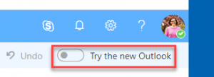 Try the new Outlook toggle in web client